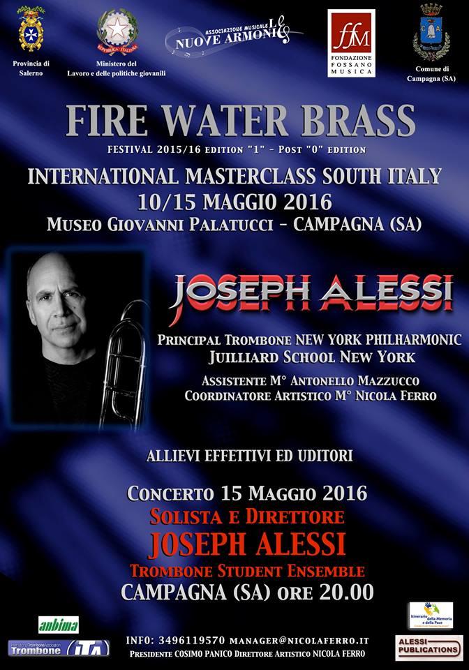 10/15 maggio 2016 – Master di Trombone.