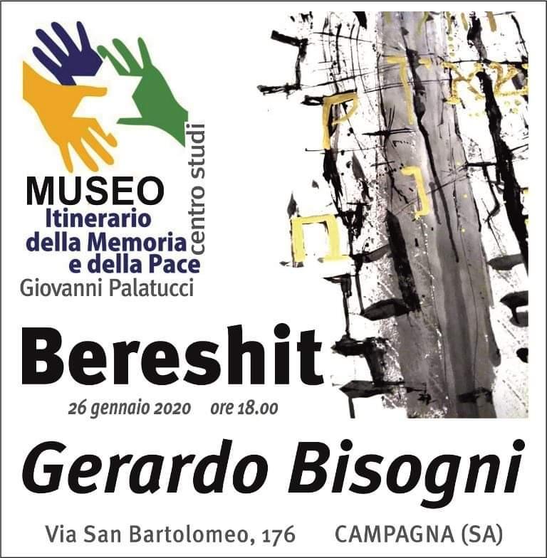 "Mostra d'arte calligrafia espressiva "" BERESHIT"" di Gerardo Bisogni – 26 gennaio 2020."