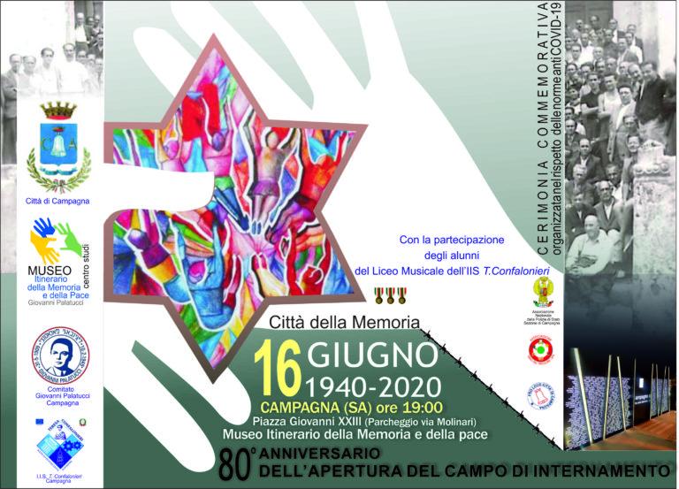 16 giugno 2020 – Ottantesimo anniversario dell'apertura del campo di internamento di Campagna