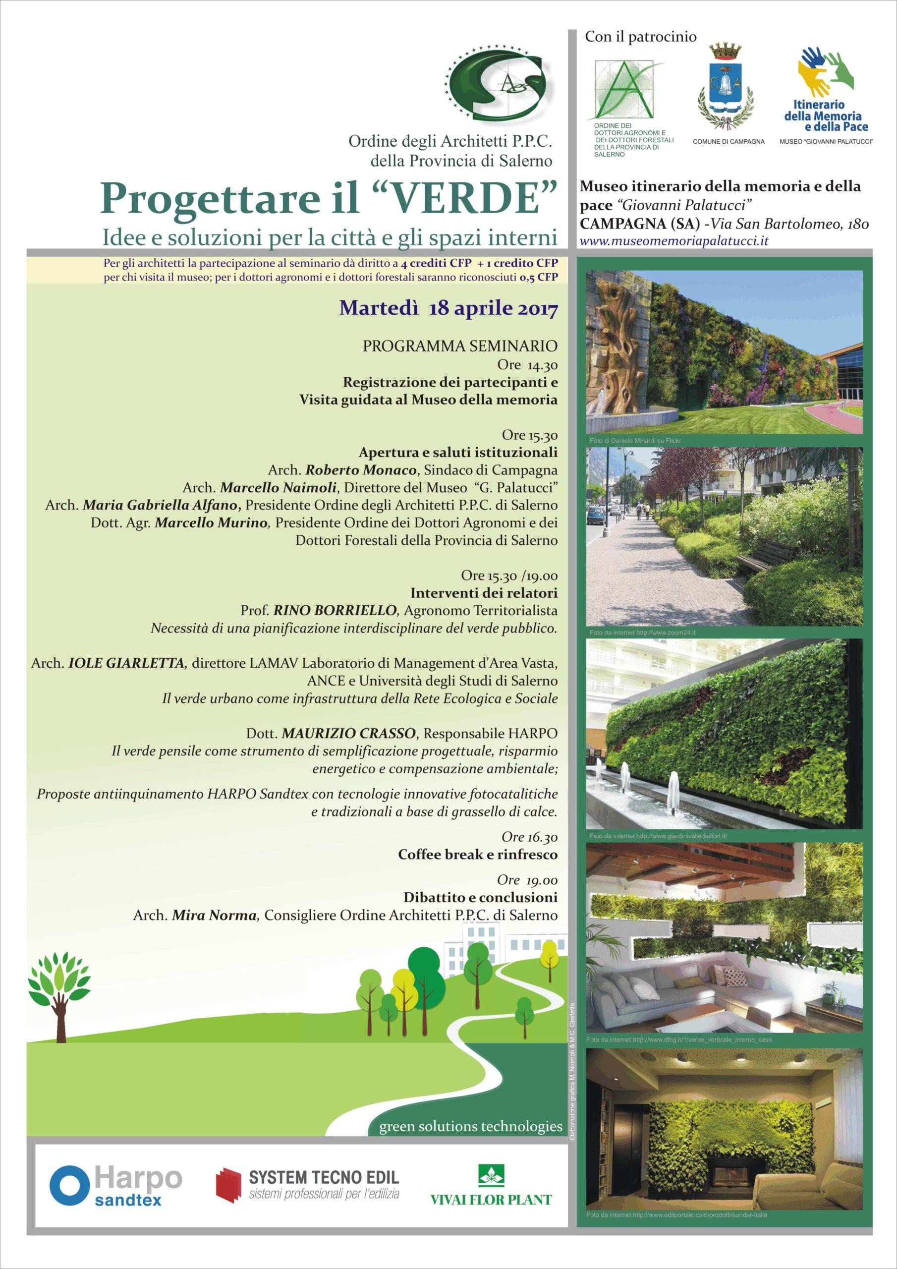 Workshop organizzato con l'Ordine degli Architetti di Salerno – Aprile 2017