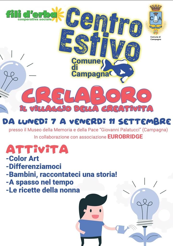 """Centro Estivo con la Cooperativa sociale """"Fili d'Erba"""" – settembre 2020"""