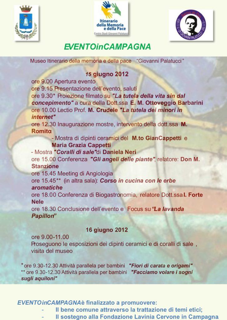 Evento in Campagna – giugno 2012