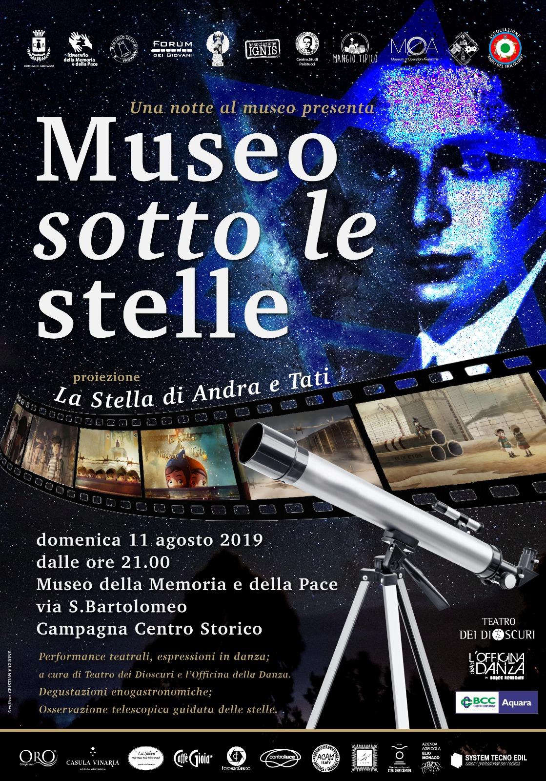 Museo sotto le stelle – III Edizione – agosto 2019