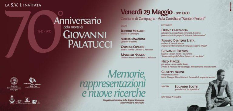 Convegno per il 70° anniversario della morte di Giovanni Palatucci – 29 maggio 2015