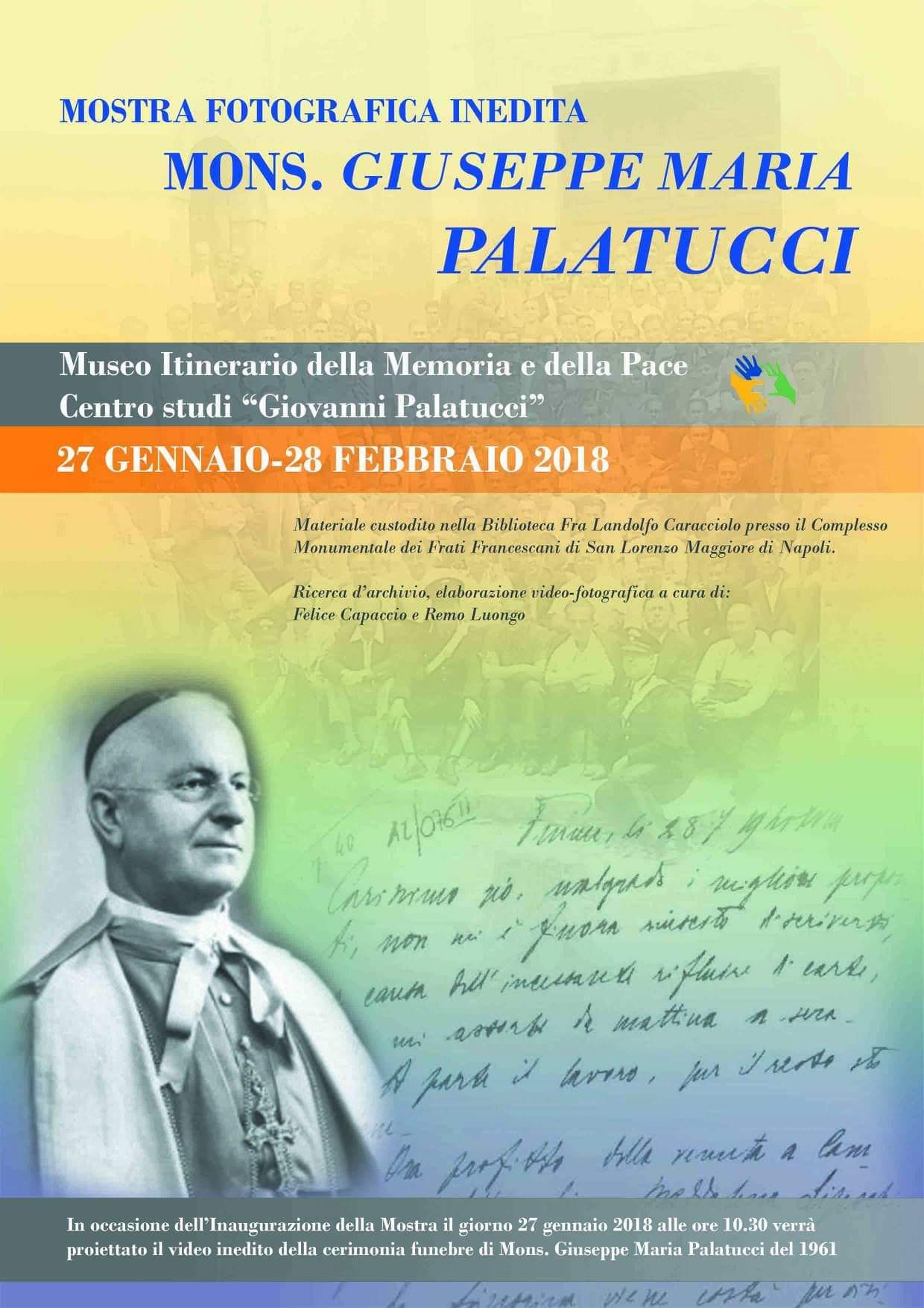 Presentazione Mostra fotografica su Mons. Giuseppe Maria Palatucci