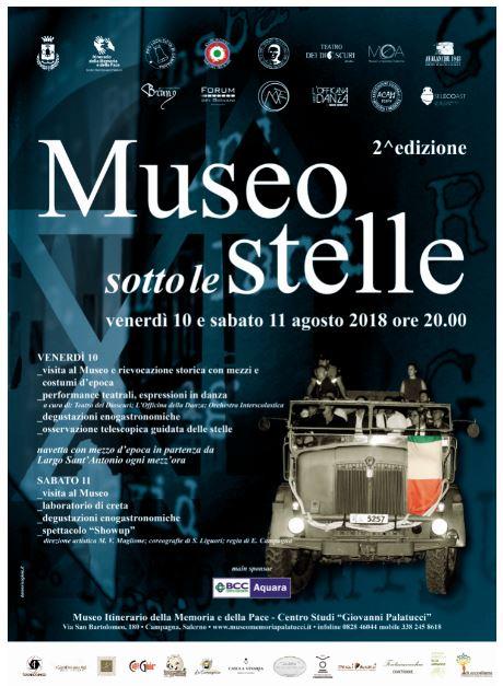 Museo sotto le stelle – II Edizione – agosto 2018