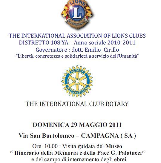 """Convegno : """" La coscienza sociale"""" – Giovanni Palatucci giusto tra le Nazioni 29 maggio 2011"""