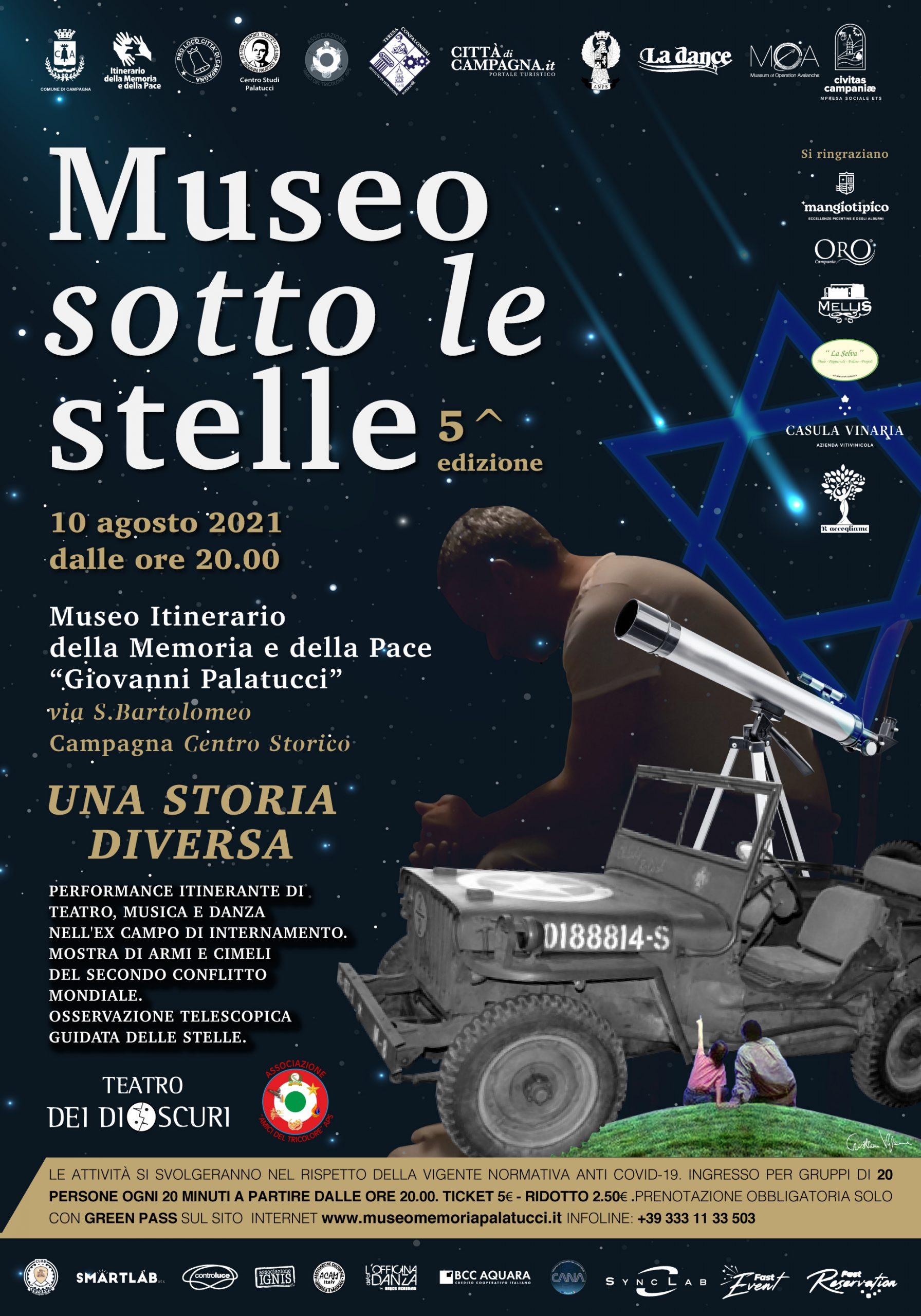 Museo sotto le stelle - 2021 - PRENOTA ORA
